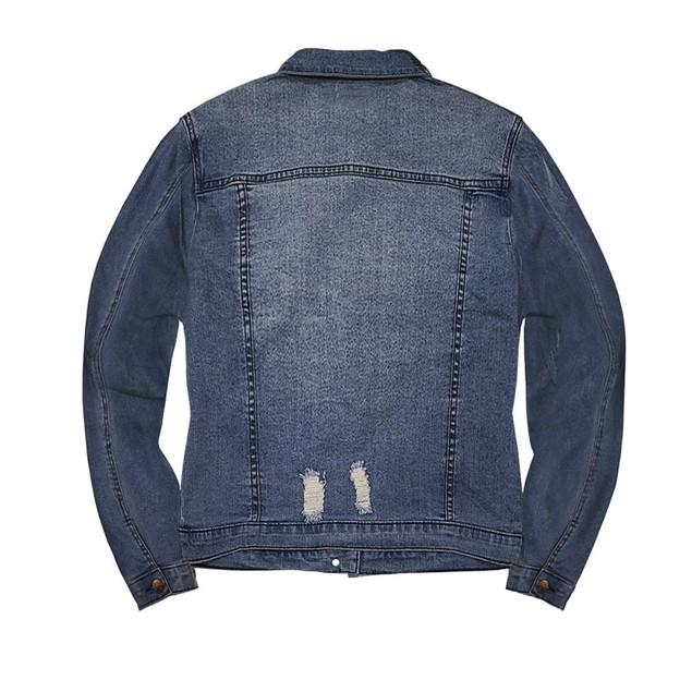 Hybrid & Co Distressed Denim Jacket (S-3X)