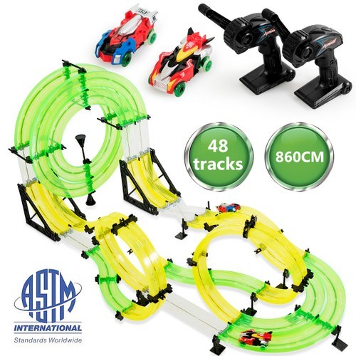 Autoflier Kids RC Rail Car Race Track Set