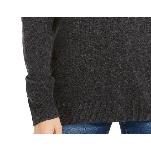 INC International Concepts Women's Embellished Sweater Charcoal Size Small