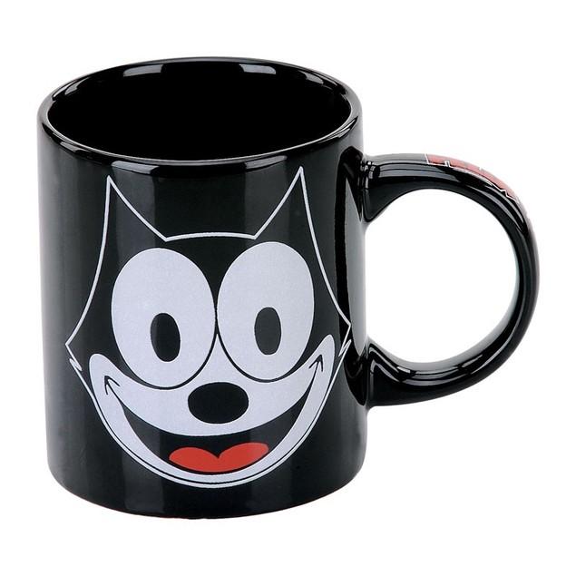 Felix the Cat Face Ceramic Coffee Mug 14 oz Black Silent Film Cartoon 1920s