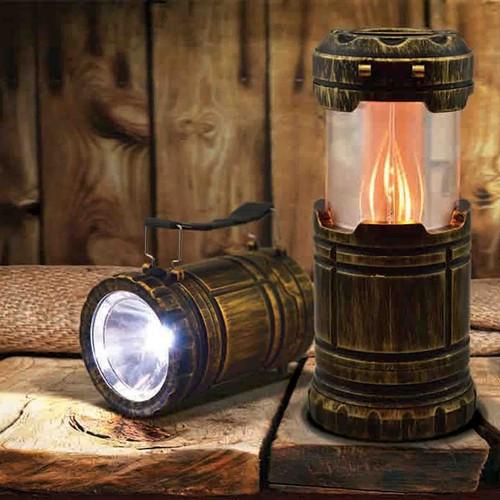 2 Pack: Flicker Flame Multi Function Pop Up Lantern