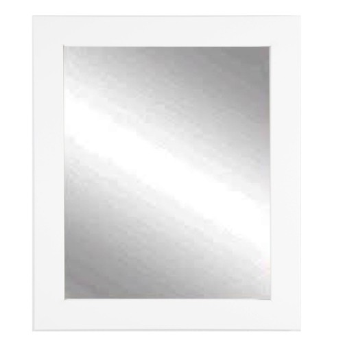 """BrandtWorks Perfect Durable Pure White Entry Way Wall Mirror - 32"""" x 36"""""""