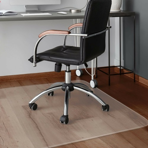 Costway 47'' x 59'' PVC Chair Floor Mat Home Office Protector For Hard Wood