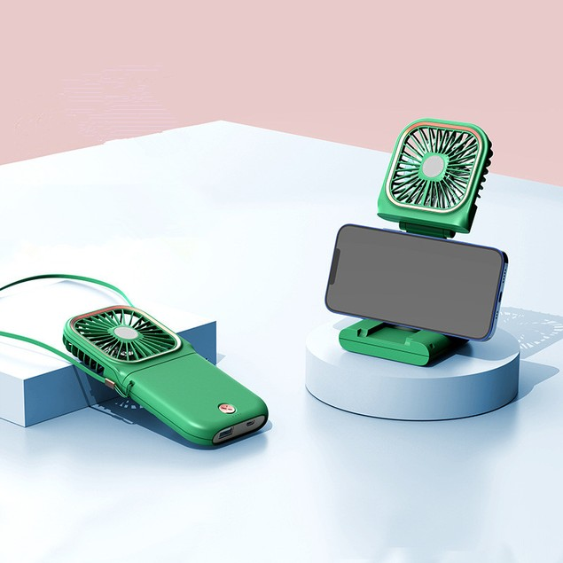 USB Ultra-thin Portable Folding Hanging Neck Fan