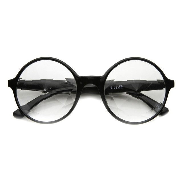 Black Kaleidoscope Clear Lens Glasses Adult Costume  Accessory Lady Gaga