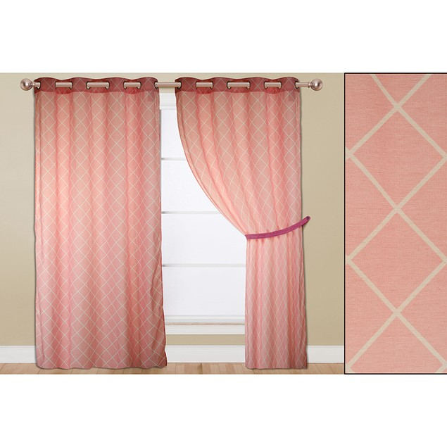 """2-Pack Elegant 54"""" x 84"""" Printed Curtain Window Panels - 9 Styles Available"""