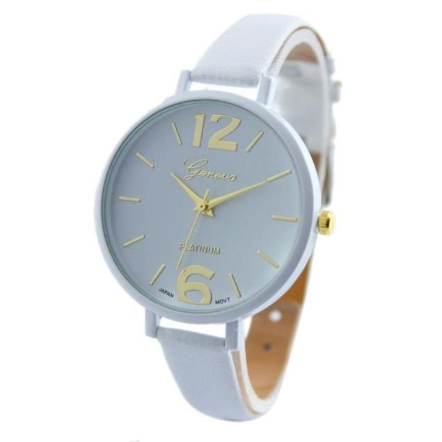 Geneva Women's Faux Leather Analog Quartz Wrist Watch