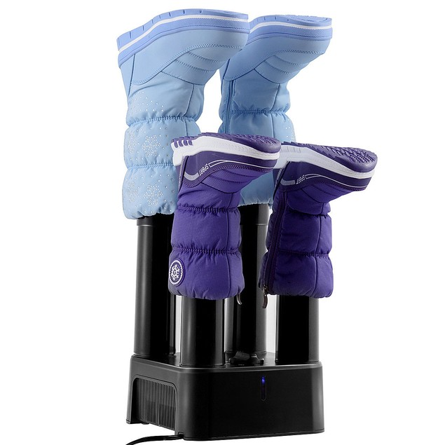 Costway 4 Shoe Boot Glove Dryer with Timer and Fan Prevent Odor Mold & Bact