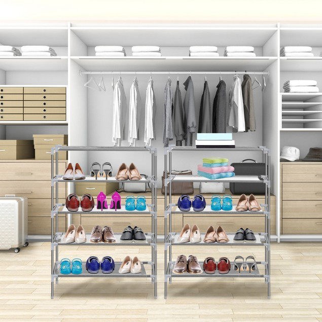 10 Tiers Shoes Rack Shelves 27 Pairs Shoes Storage OrganizerStand
