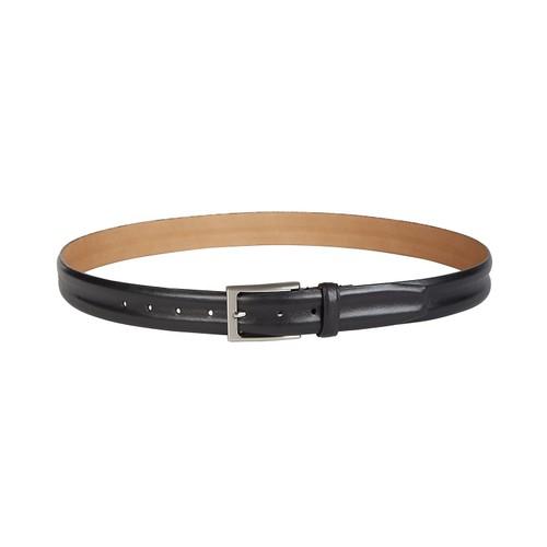 Tasso Elba Men's Leather Dress Belt Black Size Medium