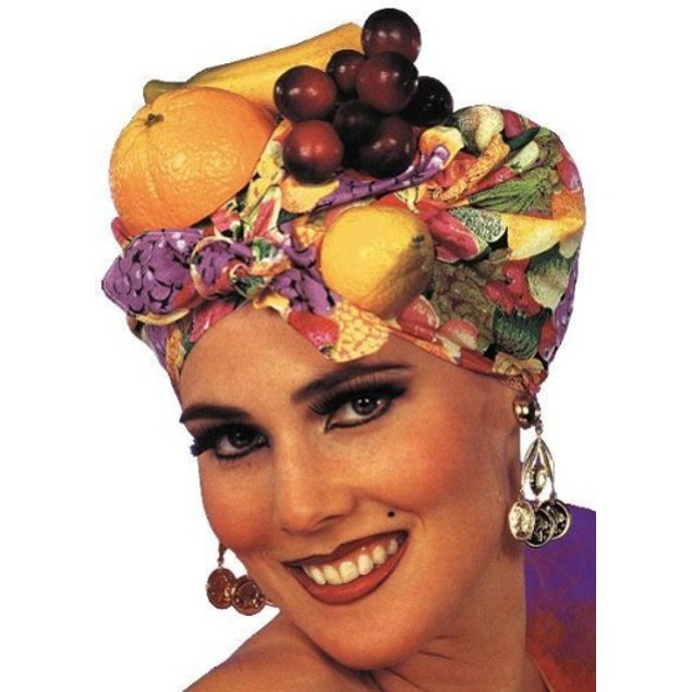 Latin Fruit Hat Carmen Miranda Cap Samba Salsa Headpiece Showgirl Adult