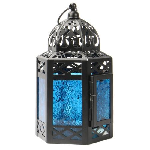 Blue Moroccan Lantern | MandW