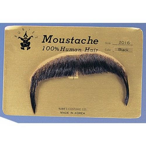 Black Zapata Moustache 100% Human Hair Mexican Cowboy Emiliano Accessory