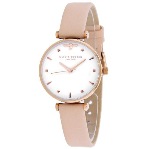 Olivia Burton Women's White Dial Watch - OB16AM95