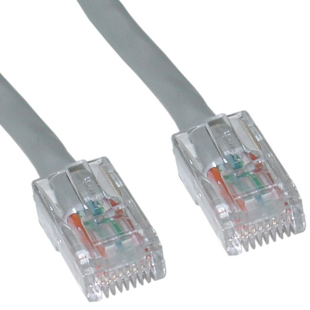 Cat6 Gray Ethernet Patch Cable, Bootless, 7 foot