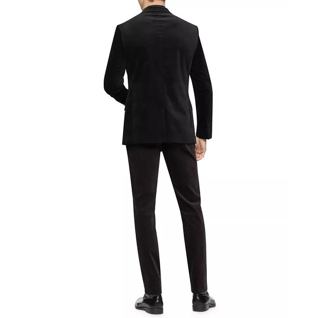 Calvin Klein Men's Slim-Fit Velvet Sport Coat Black Size Medium