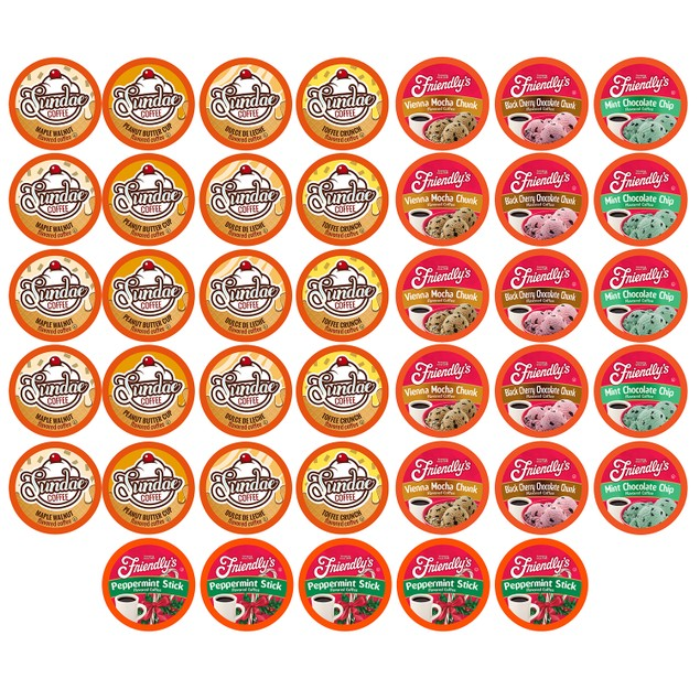 Two Rivers Ice Cream FLAVORED Coffee Pods for Keurig (Variety Pack, 40 Count)