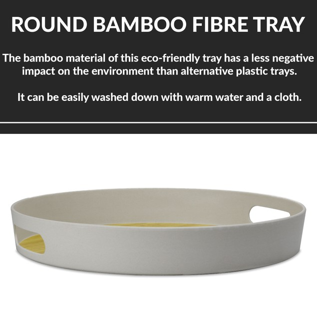 Round Bamboo Fibre Tray   MandW