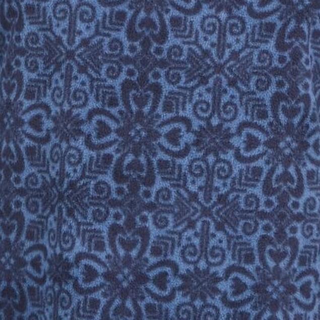 Karen Scott Women's Sport Printed Microfleece Top  Blue Size Small