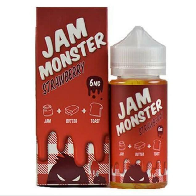 Jam Monster 6mg Nicotine Level E-Liquid, Strawberry Flavor, 100ml
