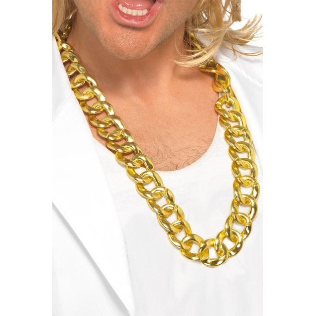 Thick Gold Chain Run DMC Hip Hop Rapper Pimp Rope Old School Bling Necklace