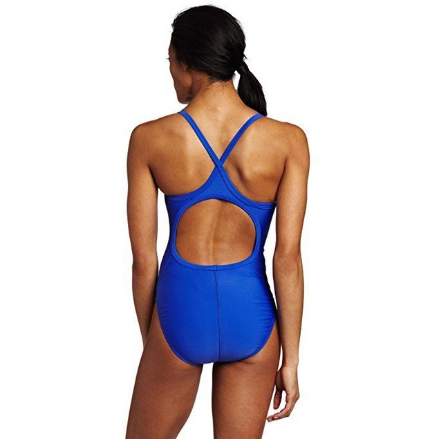 TYR Sport Women's Solid Diamondback Swim Suit,Royal,Sz: 36