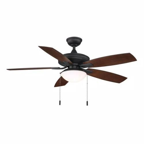 """Hampton Bay Gazebo II 52"""" Indoor/Outdoor Bronze Ceiling Fan, Natural Iron"""