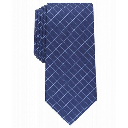 Alfani Men's Slim Grid Tie Navy Size Regular