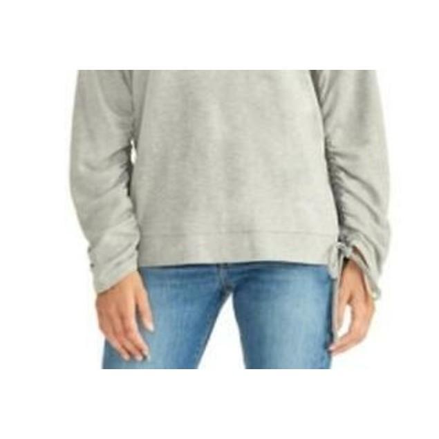 RACHEL Rachel Roy Women's Ruched Sweatshirt Gray Size X-Small