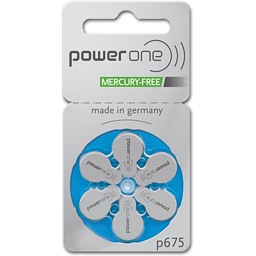 Power One Size 675 PR44 MF Zinc Air Hearing Aid Batteries (60 pack)