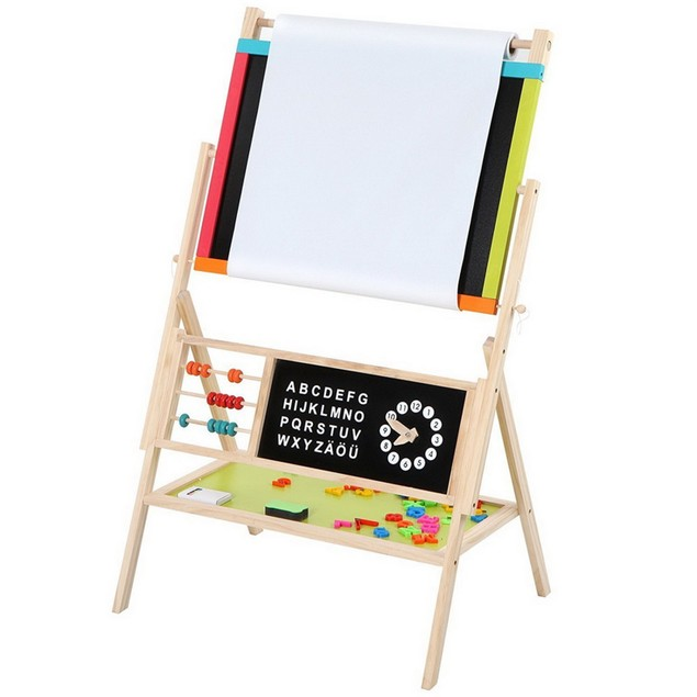 All-in-One Multifunction Wooden Kid's Art Education Easel With Accessories