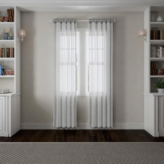 Curtain Rod- Decorative Ball Finials & Hardware 48-84-Inch