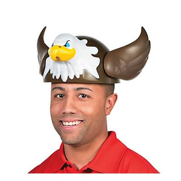 "Bald Eagle Foam Hat 15"" x 13"" x 6"" Bird USA July 4th Halloween Costume Gift"