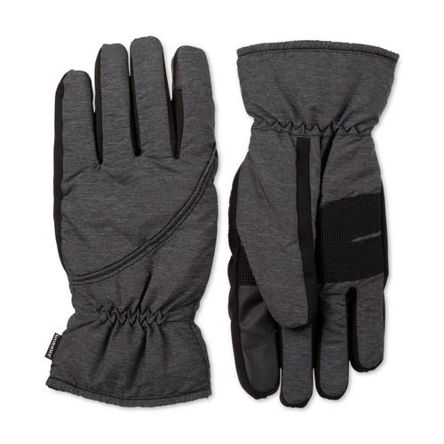 Isotoner Signature Men's Ski Gloves Black Size Extra Large