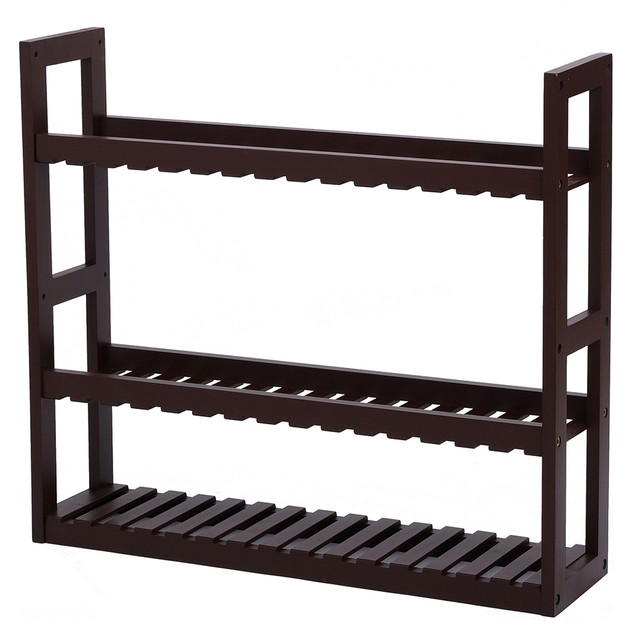 100% Bamboo Adjustable 3 Layers Multifunctional Wall Storage Rack For Bathroom Living Room Kitchen
