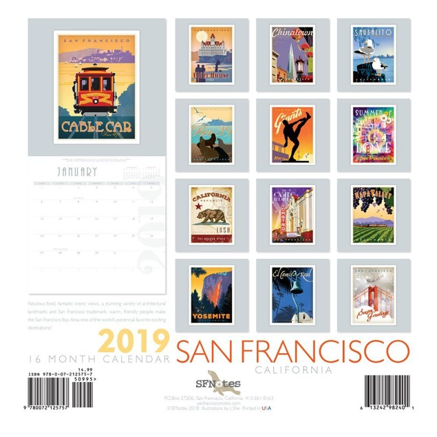 San Francisco Wall Calendar, San Francisco by SFNotes