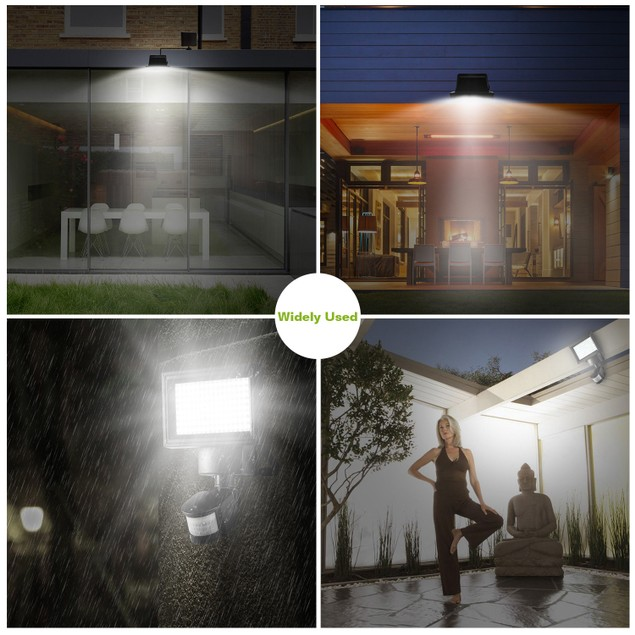 Solar Wall Lights 120 LEDs Flood Lights Outdoor