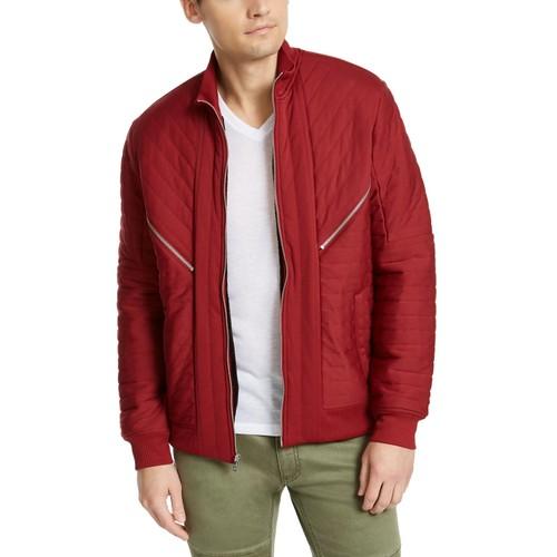INC International Concepts Men's Burton Quilted Jacket Wine Size Large