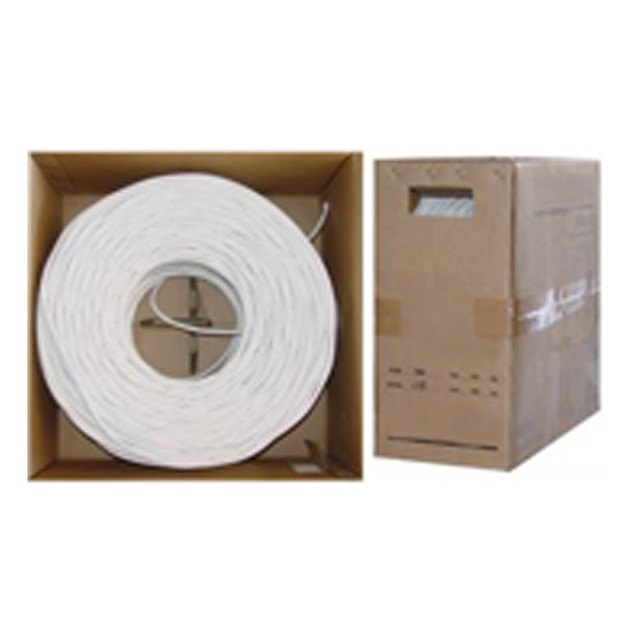 Quad Shielded Bulk RG6 Coaxial Cable 18 AWG  Pullbox, 1000 foot