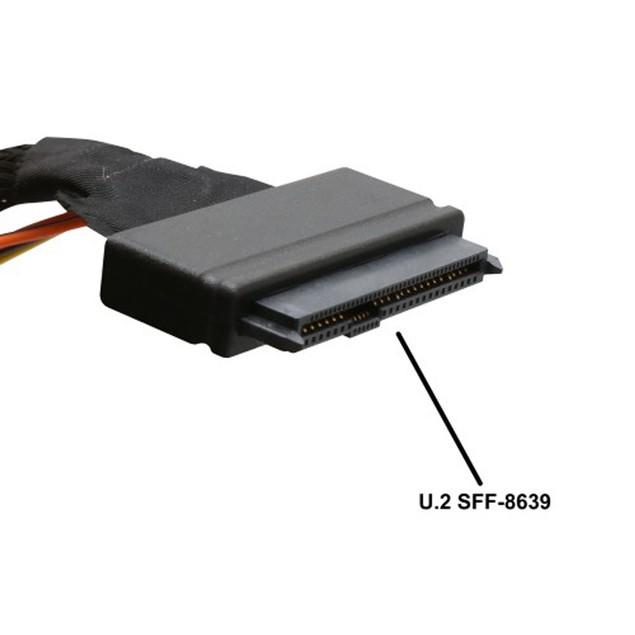 U.2 (SFF-8639) to M.2 M-Key NVMe Adapter
