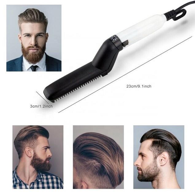 Hair Straightener Men Multifunctional Comb Curling Electric Brush Beard Comb