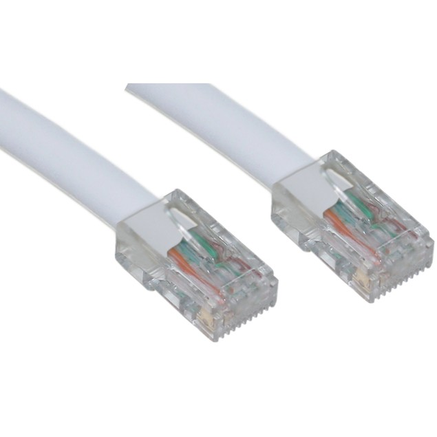 Cat5e White Ethernet Patch Cable, Bootless, 100 foot
