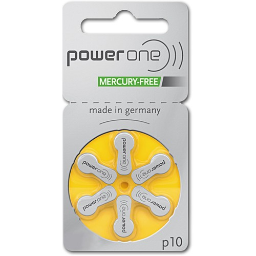 Power One Size 10 PR70 MF Zinc Air Hearing Aid Batteries (60 pack)
