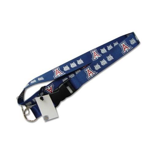 Northwestern Wildcats Clip Lanyard Keychain Id Ticket - Blue