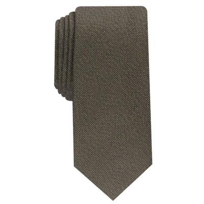 Alfani Men's Solid Texture Slim Tie Dark Yellow Size Regular
