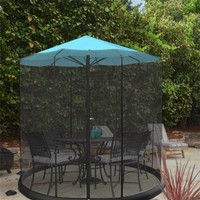 Patio Umbrella Mosquito Net- Bug Screen for 9ft. Patio Table Umbrellas