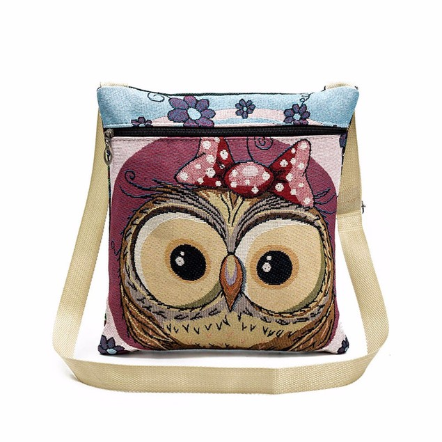 Owl Tote Bags Women Shoulder Bag Handbags Postman Package