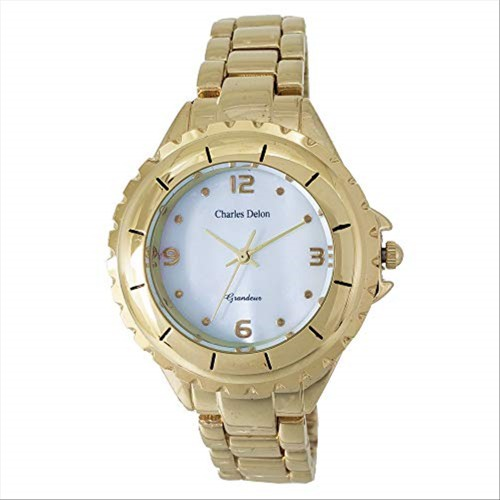 Charles Delon Women's Watches 5582 LAMD Gold/Gold Stainless Steel Quartz Round