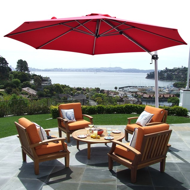 11' Cantilever Aluminum 360 degrees Rotation Patio Umbrella