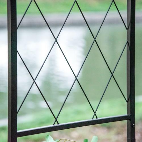 Outdoor Backyard/Entryway Arbor Arch/Entrance w/ Ground Mountable Columns